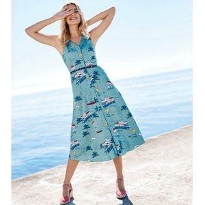 Boden blue beach Josephine cotton midi dress 4